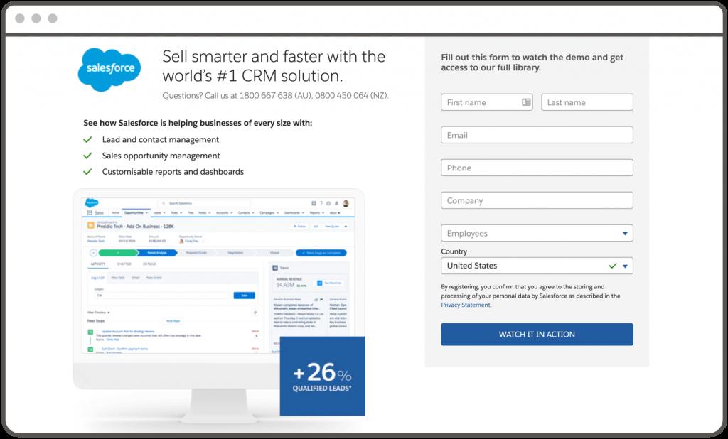Sales Force Website