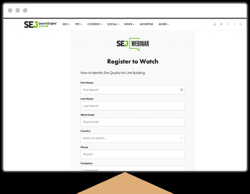 Search Engine Journal: webinars