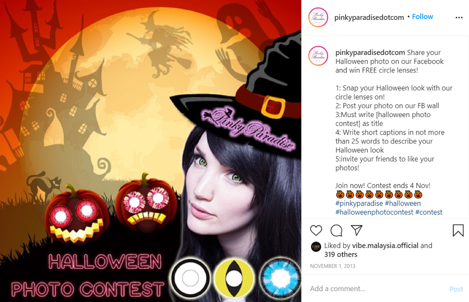 Crowdsource content Instagram example from Pinky Paradise