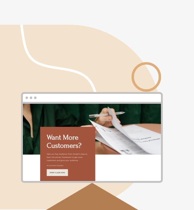 upside-down landing page homepage design