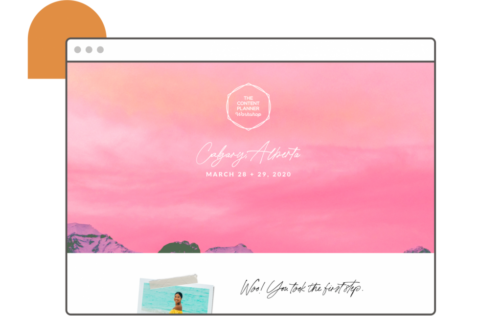 kat gaskin landing page the content planner