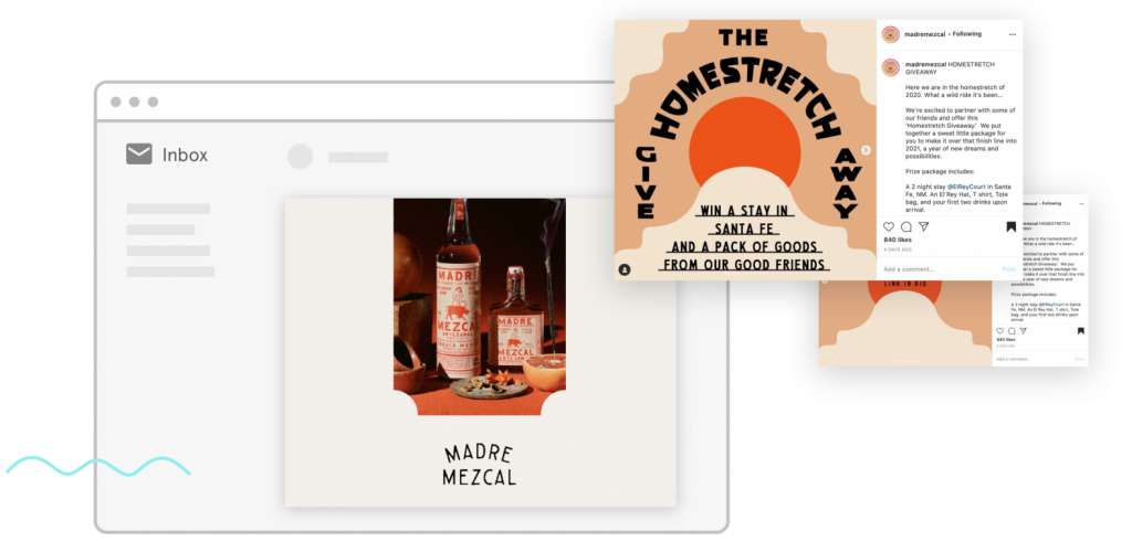 madre mezcal homestead contest email and instagram graphics