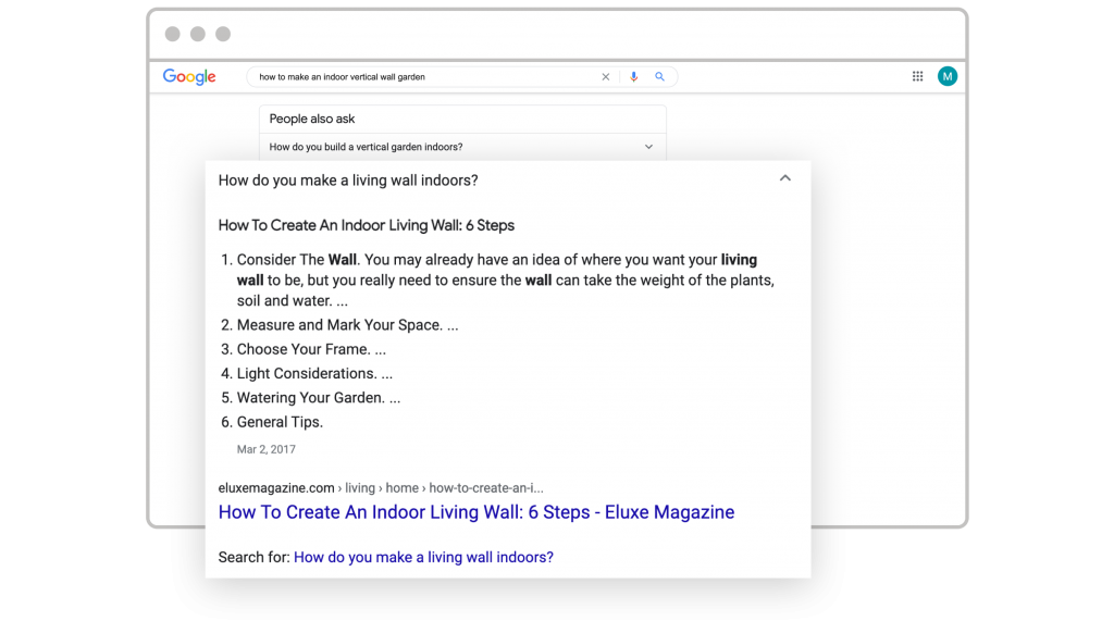 digital marketing trends 2021 google's featured snippet