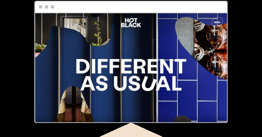 web design trends 2021 Hot Black website