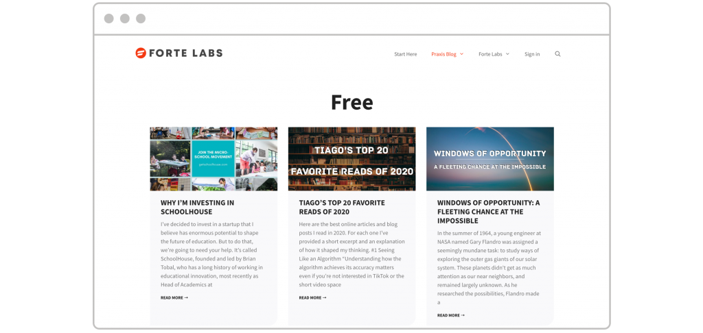 How to create lead magnet Tiago Forte free resources