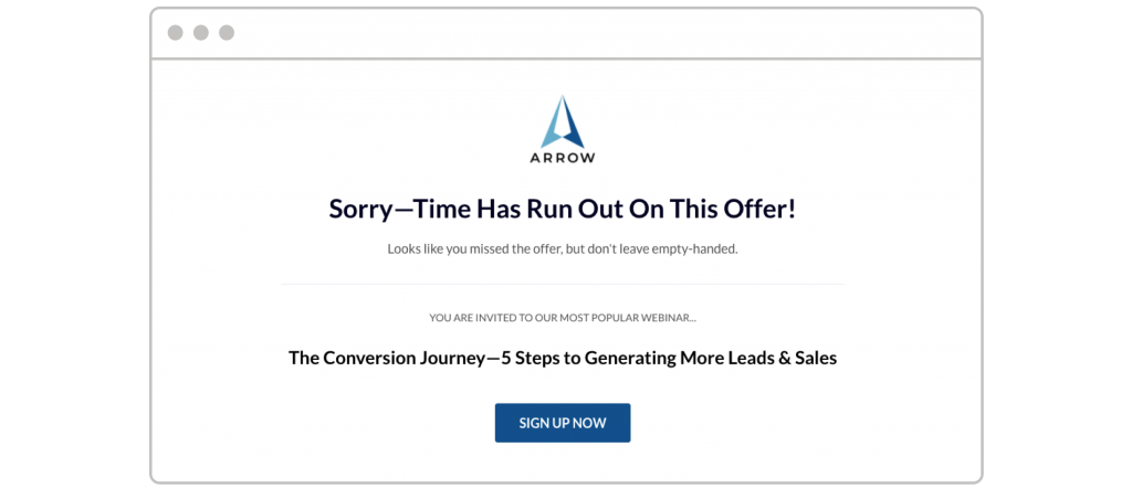 countdown timers Leadpages template