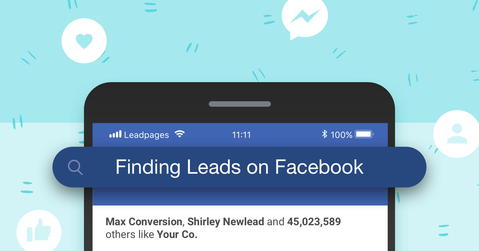 Get Leads from Facebook with Leadpages landing pages