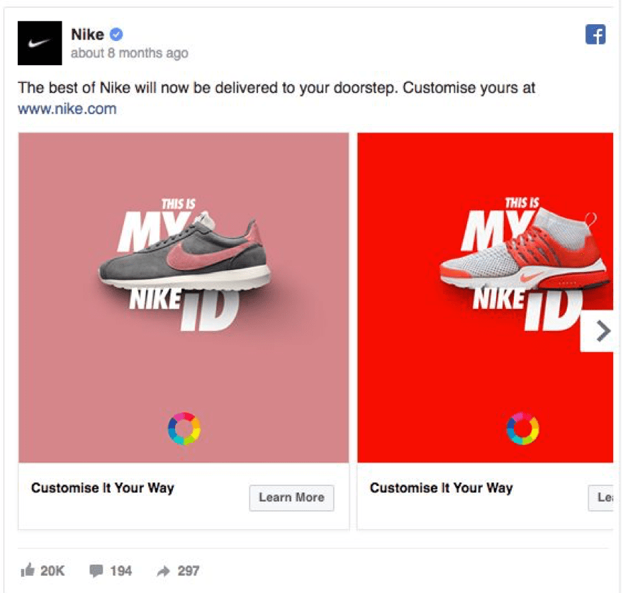 Best Facebook Ad Examples – Nike