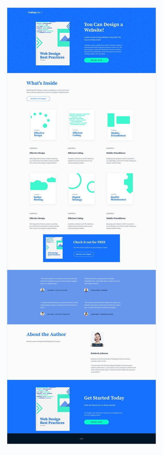 free ebook sales page template from Leadpages
