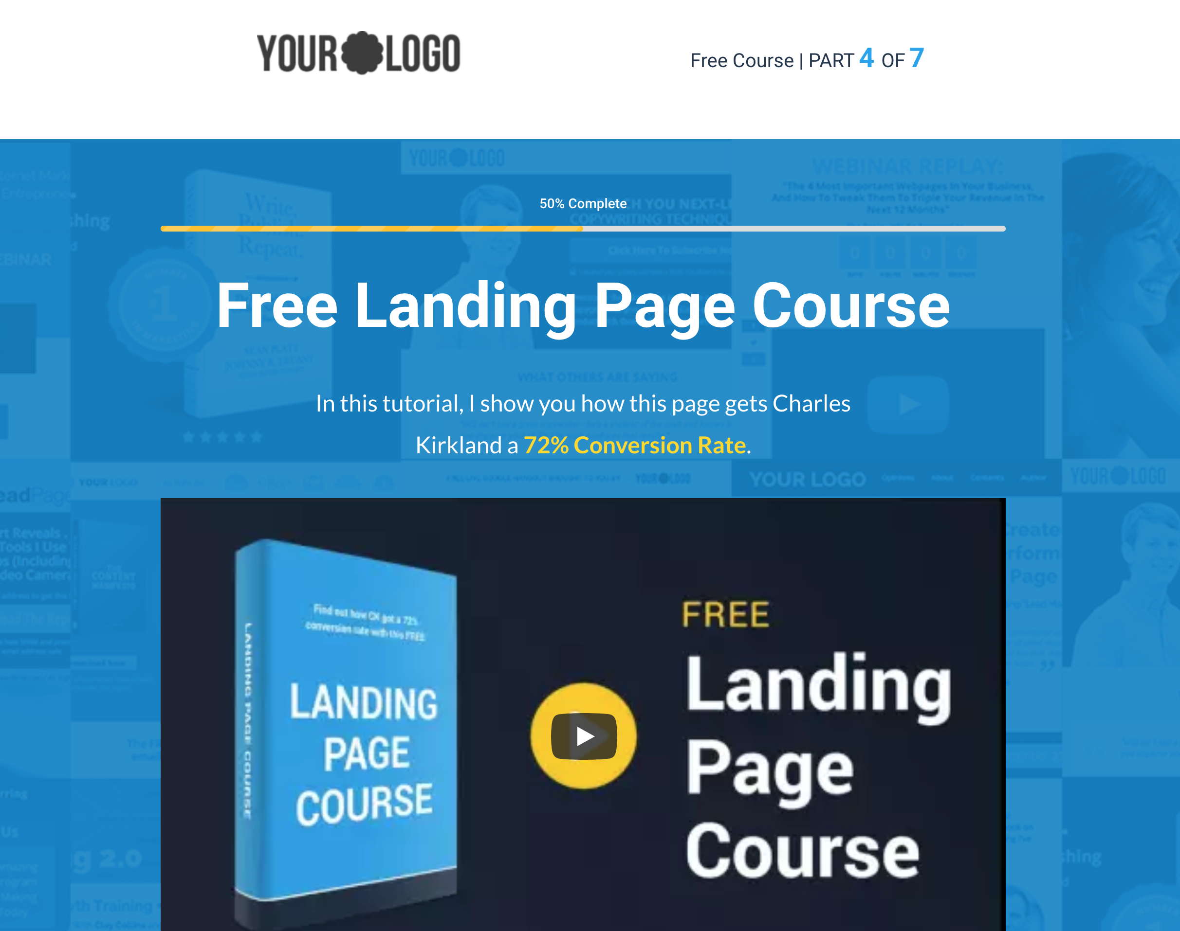 Video Landing Page Template Thumbnail