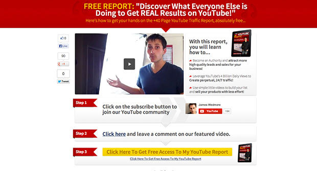 A Landing Page Template To Skyrocket YouTube Rankings Preview