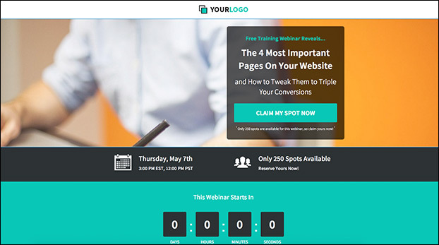 A Simple Webinar Registration Page For Necessary Details Preview