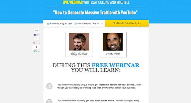 Affiliate Webinar Registration Landing Page Preview