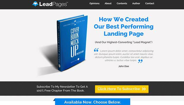 Bestselling Ebook Launch Landing Page Template Preview