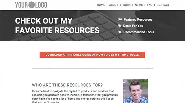 Create Passive Income With This Blog Resources Page Preview