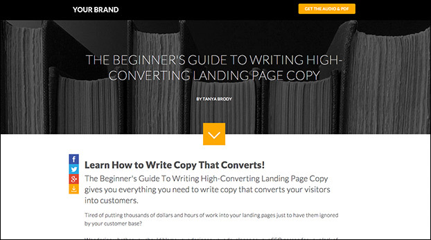 Create The Ultimate Guide For Your Market with the Home Landing Page Template Preview
