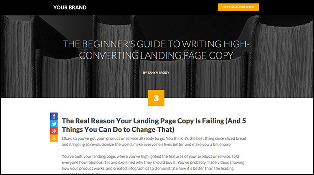 Deliver Ultimate Guide Chapters with the Chaptered Landing Page Template Preview