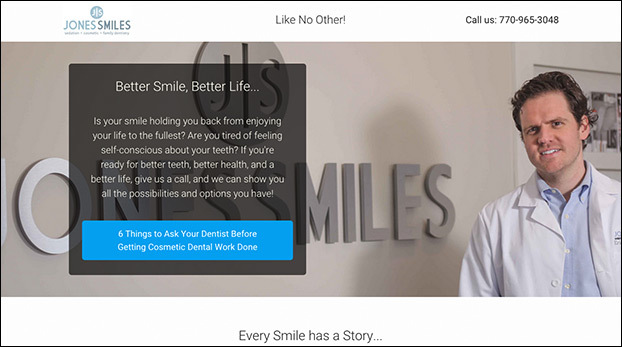 Dentist, Realtor, and Attorney Landing Page Template Preview