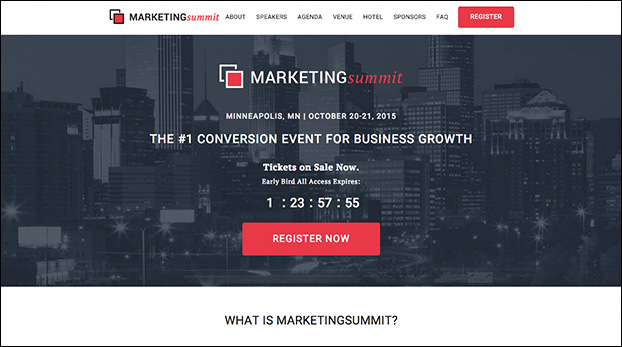 Sell Out Your Next Event With This Live Event Landing Page Preview