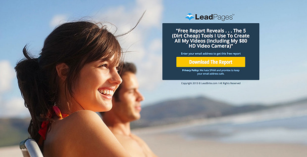 The Free Report Landing Page Template  Preview