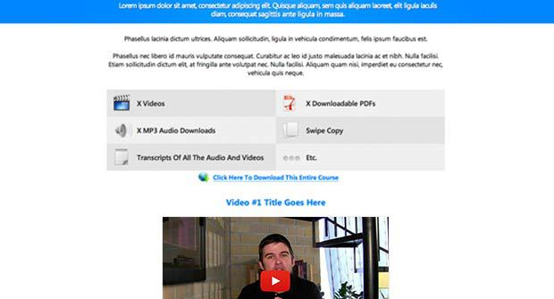 The Massive Value Video Landing Page  Preview