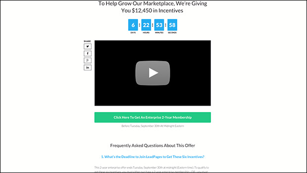 The Promotional Landing Page Template Preview