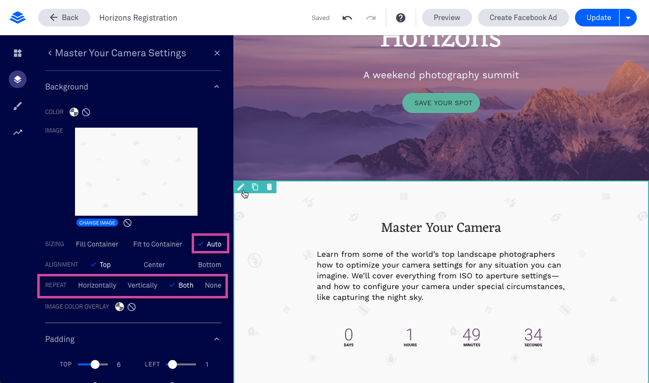 Background images and mobile responsiveness – Leadpages