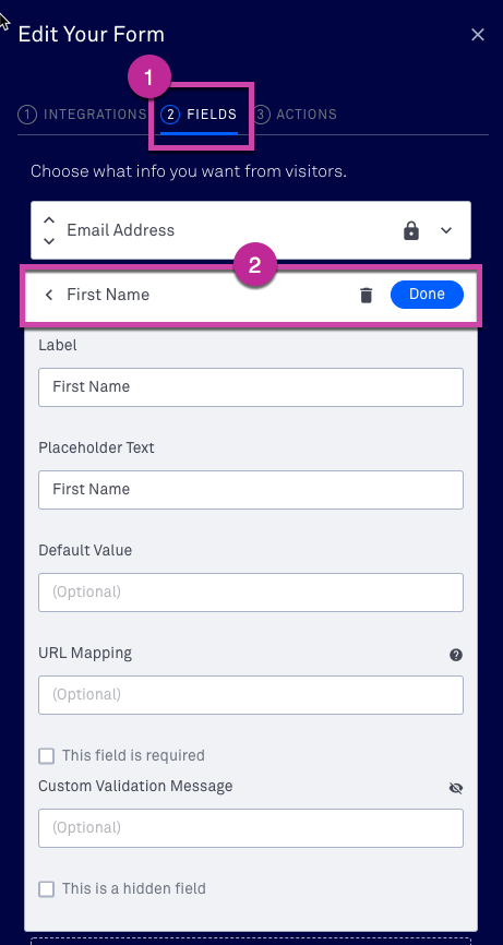 The form widget – Leadpages Knowledge Base