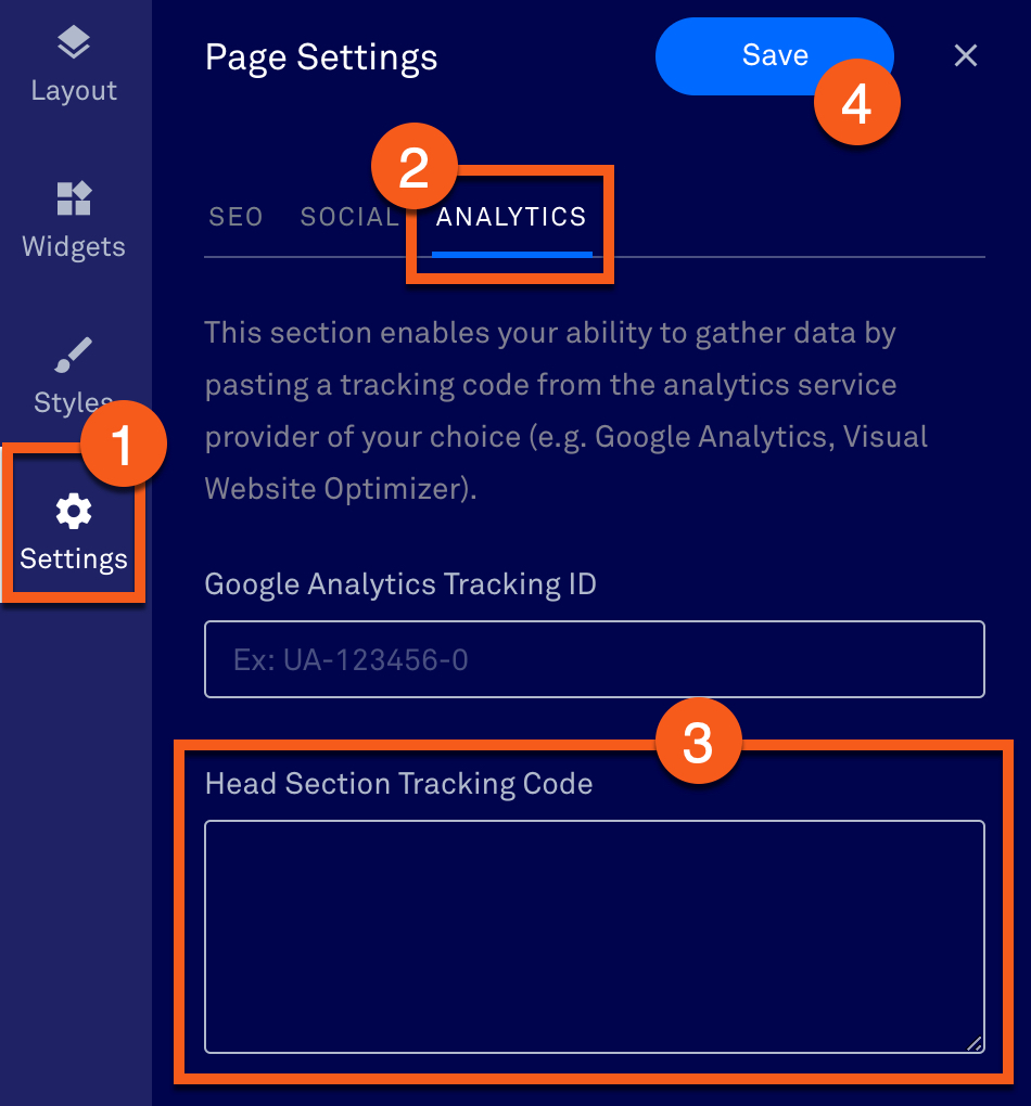 Tracking and third-party analytics – Leadpages Knowledge Base