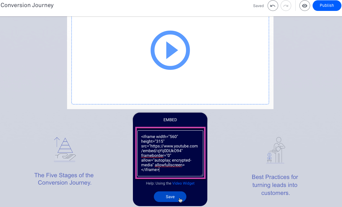 The video widget – Leadpages Knowledge Base