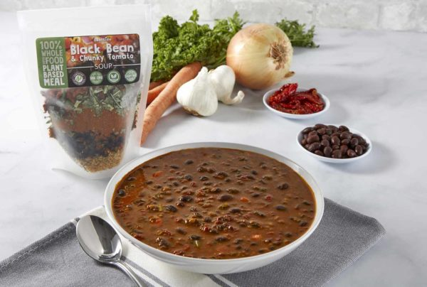 Black Bean Chunky Tomato Soup Bowl with pack