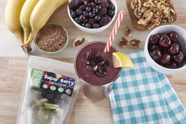 LeafSide Super Berry Smoothie overhead