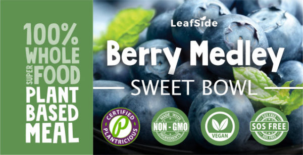 Berry Medley Sweet Bowl LeafSide