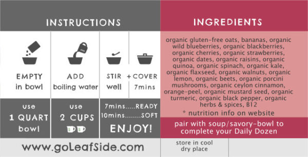 Berry Medley Sweet Bowl Instructions LeafSide