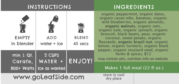 LeafSide Mint Chip Smoothie