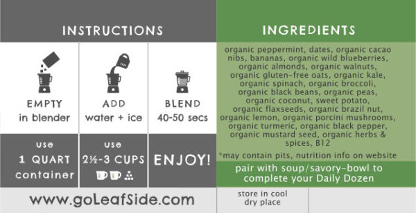 Mint Chip Smoothie Instructions LeafSide