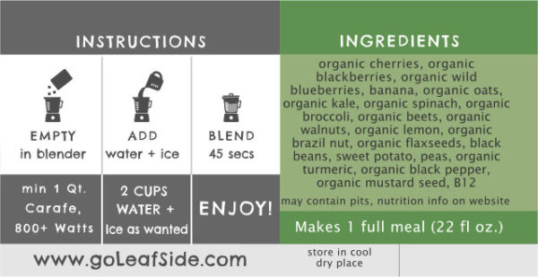 Super Berry Smoothie LeafSide
