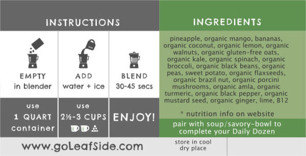 Tropical Bliss Smoothie Instructions LeafSide