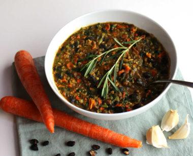 Spicy Garlic Bean Soup A