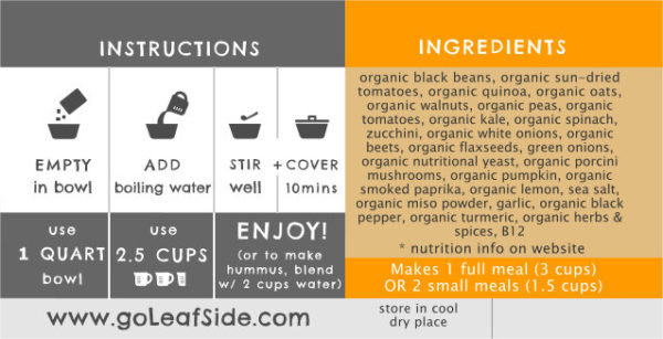 Black Bean Chunky Tomato Soup LeafSide