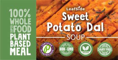 Sweet Potato Dal Soup LeafSide