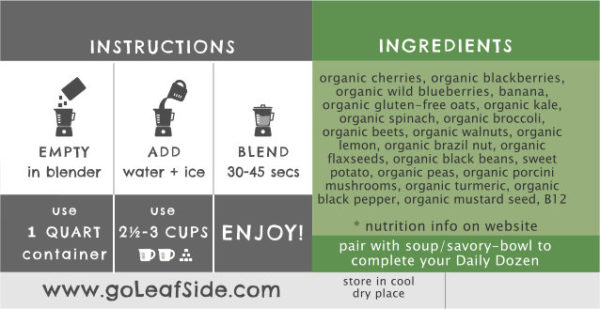 Berry Boost Smoothie Instructions LeafSide