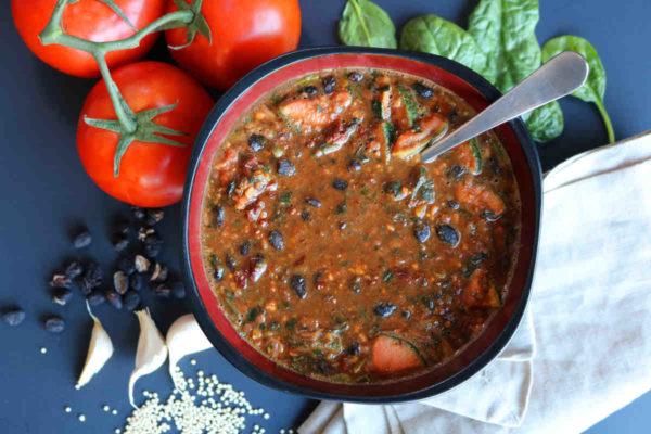 Black Bean Chunky Tomato Soup A