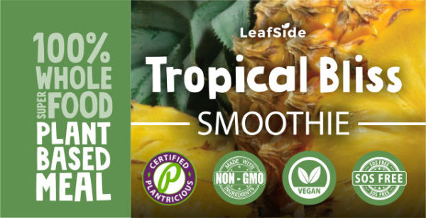 Tropical Bliss Smoothie LeafSide