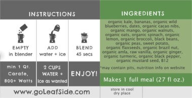 Kale Krush Smoothie LeafSide