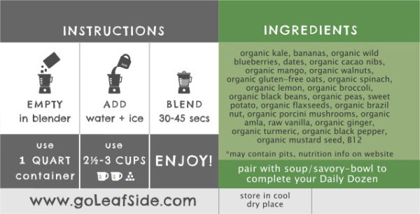 Kale Cookie Smoothie Instructions LeafSide