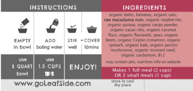Cacao Raspberry Sweet-Bowl LeafSide