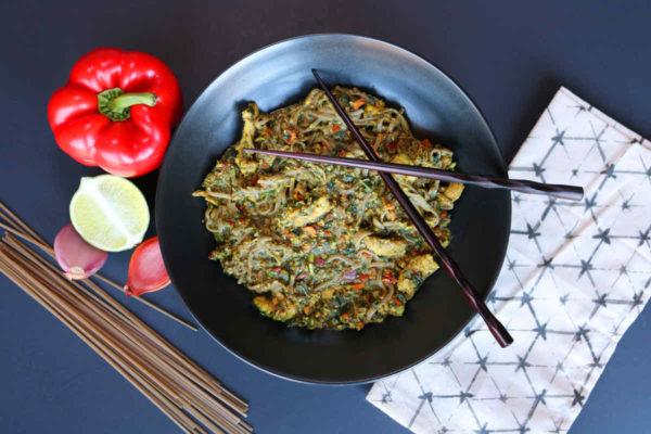 Thai Veggie Noodle Savory Bowl A
