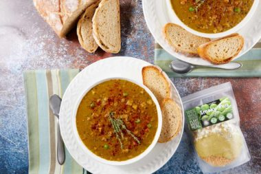 LeafSide Smoky Pea Soup - Tablescape