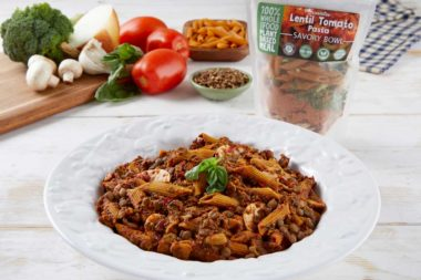 LeafSide Lentil Tomato Pasta - 1